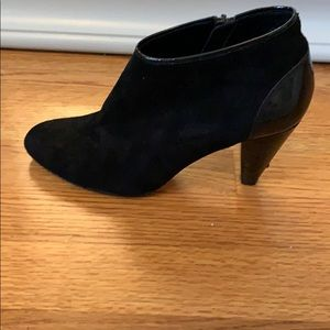 Cole Haan Nike Air Suede and Patent ankle boots